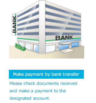 Make payment by bank transfer