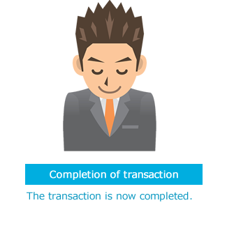 Completion of transaction